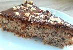 Orechový koláč s čokoládou